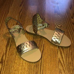 NWT Jack Rogers Ruby Sandals - Platinum (8.5)
